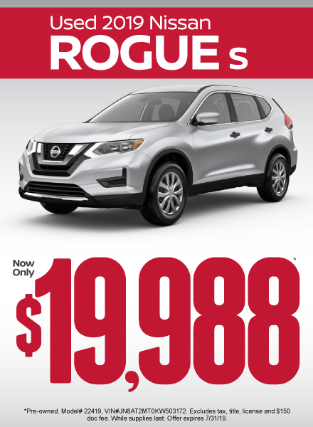 Nissan Rogue Deals At Nissan Of San Marcos In San Marcos Tx