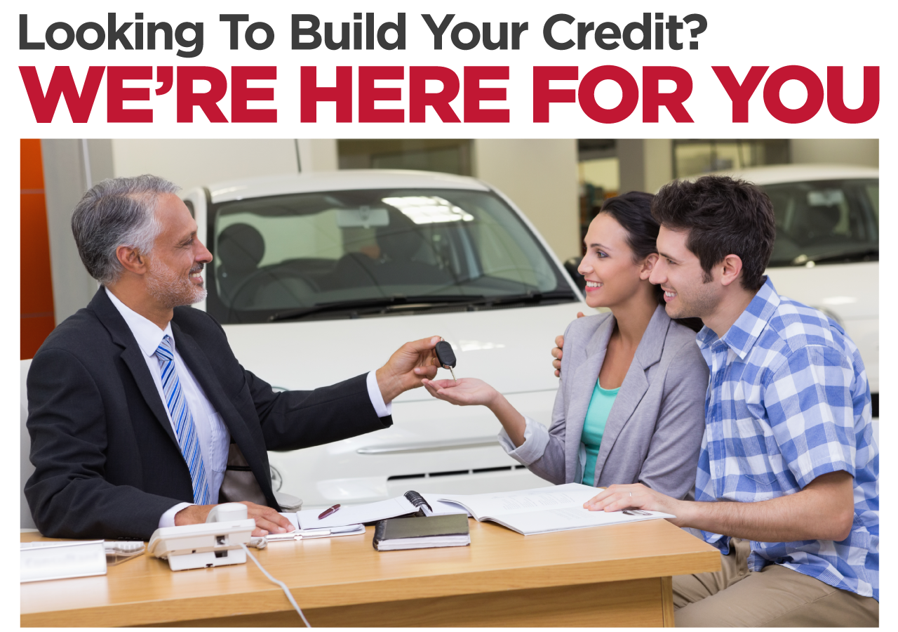 Looking to build your credit? We're here for you