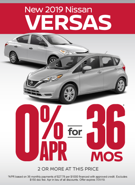 Versa Special - Click Here to Take Advantage of this Offer