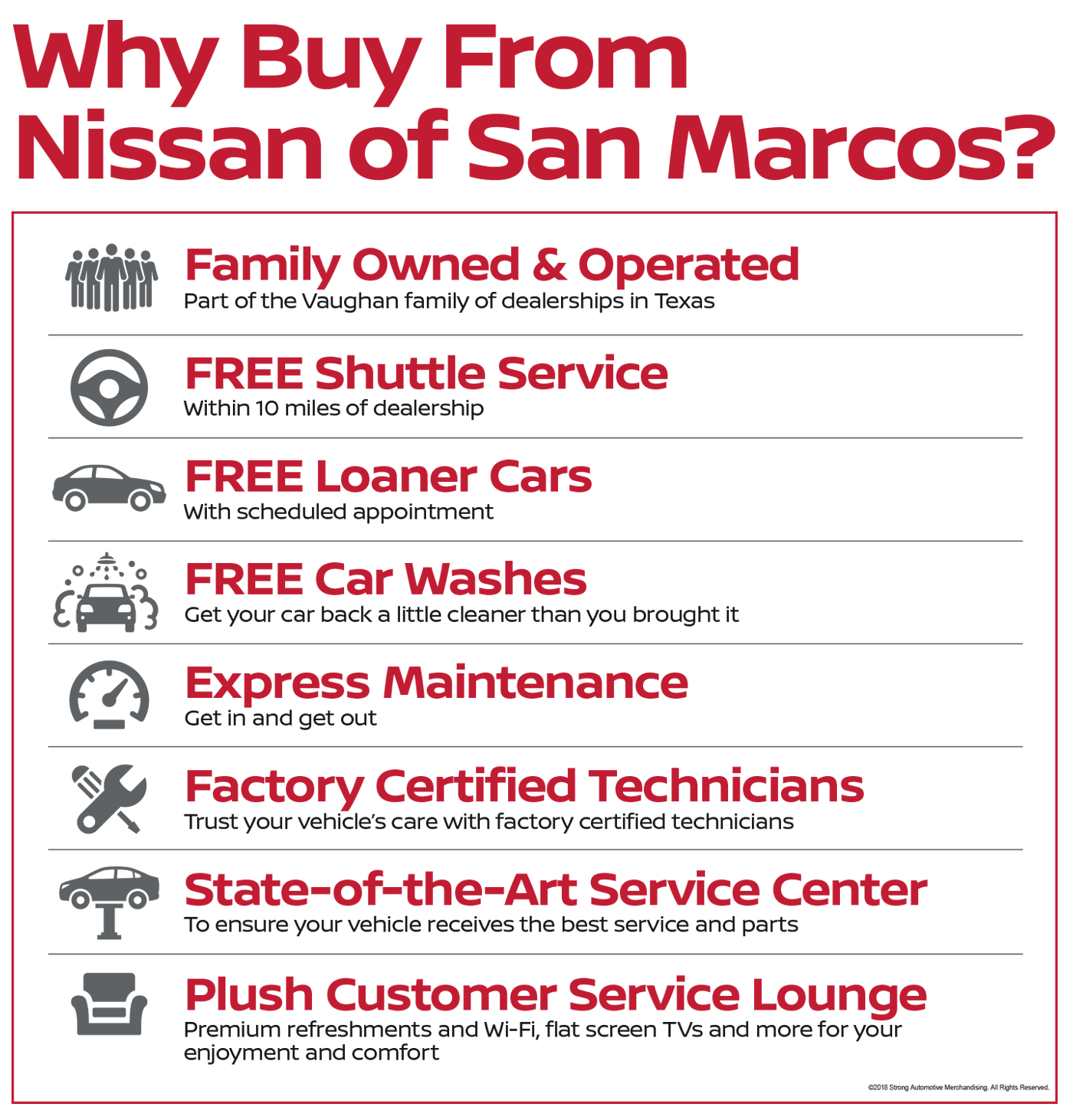 Why Buy From Nissan Of San Marcos? Service And Customer Satisfaction