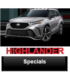 Toyota Highlander specials