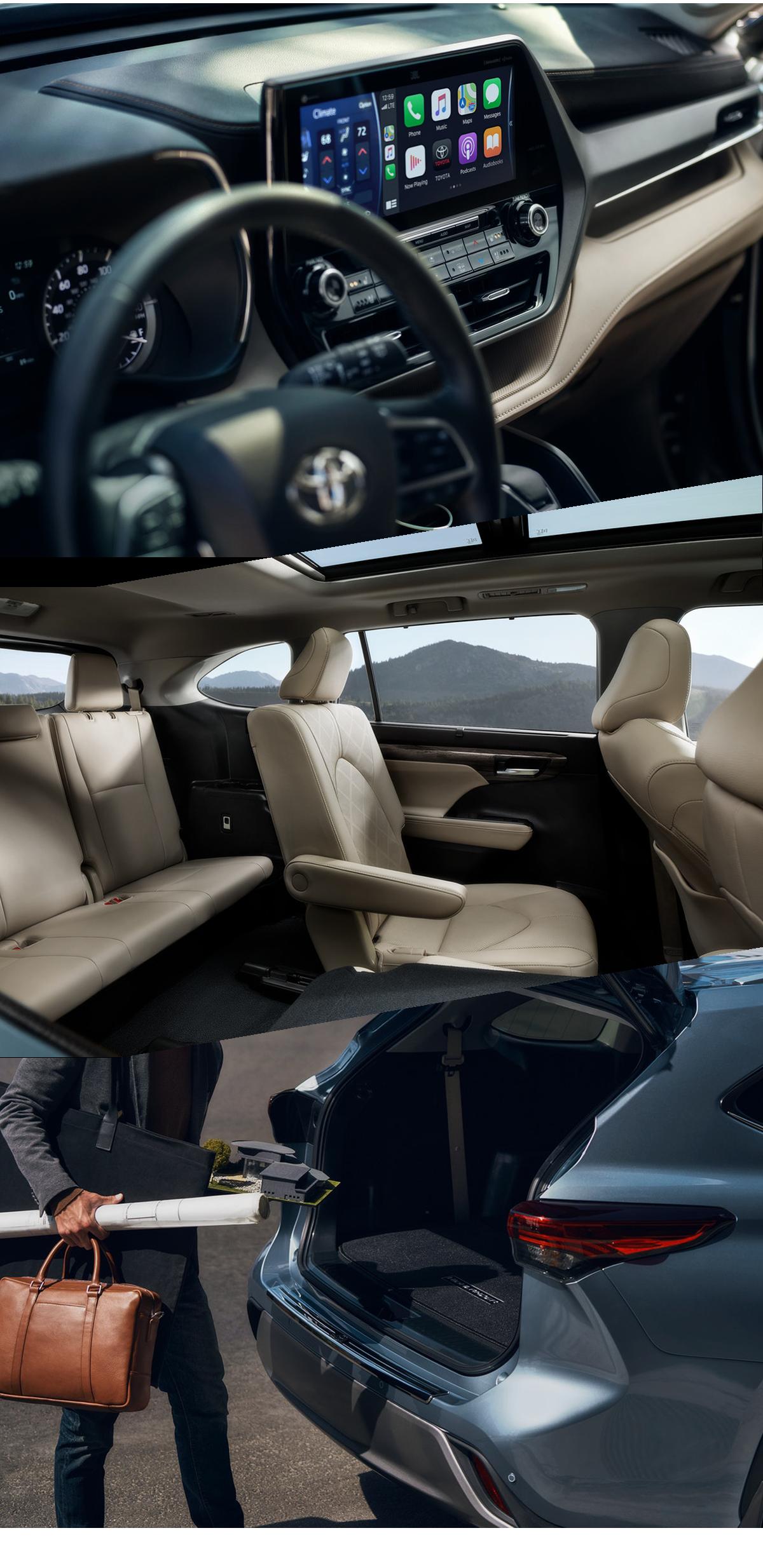 2021 Toyota Highlander Interior in Greenville, MS