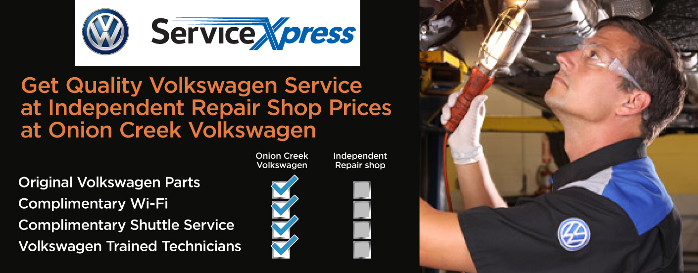 Get Quality Volkswagen Service at Independent Repair Shop Prices at Onion Creek Volkswagen