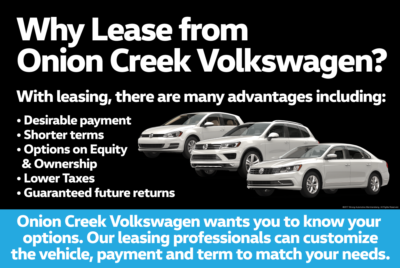 Leasing Options At Onion Creek Volkswagen In Austin Tx