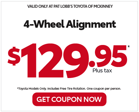 VALID ONLY AT PAT LOBB'S TOYOTA OF MCKINNEY - 20% off your next service to all front line workers - View details