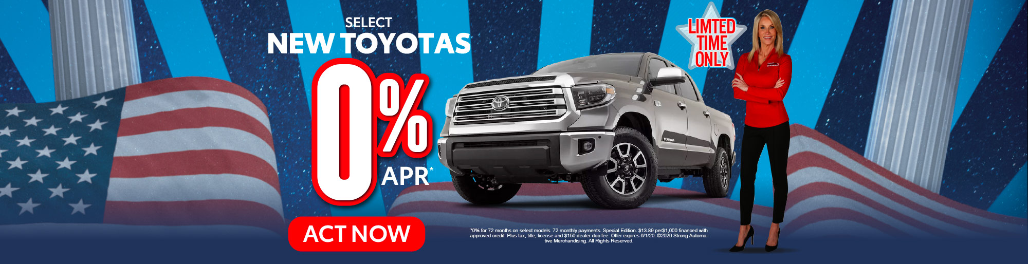 select new toyota 0% apr act now