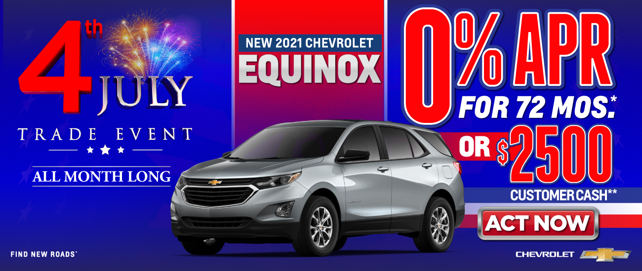 New 2021 Chevrolet Equinox - 0% APR for 72 months - Act Now