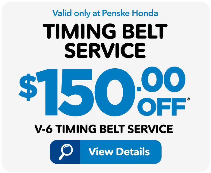Timing Belt Service Special - $150 off V-6 service - Click for details