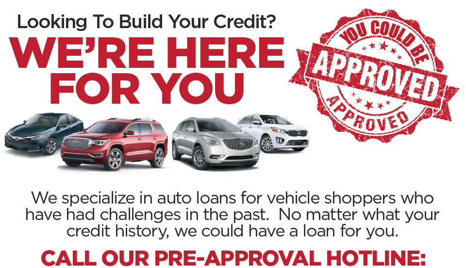 Are you Looking to build your credit? You Could Be Approved. We are here for you at Renaldo Auto Mall.
