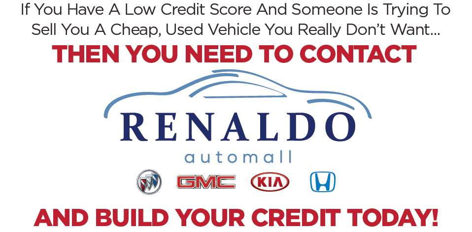 At Renaldo Auto Mall you can build your credit today. Contact us to learn more.