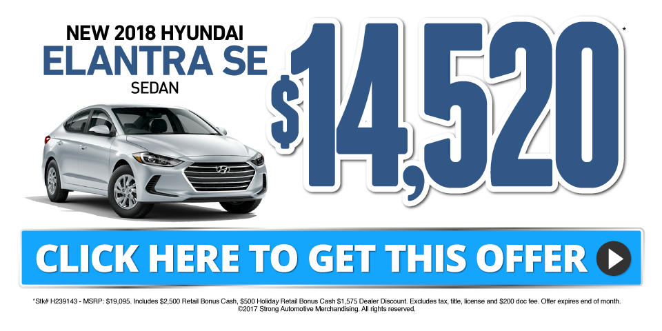 Elantra Special - Click Here to Take Advantage of This Offer