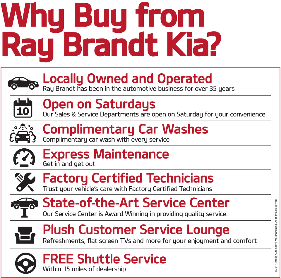 Why Buy from Ray Brandt Kia