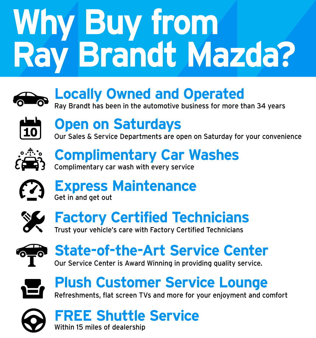 Why Buy from Ray Brandt Mazda?