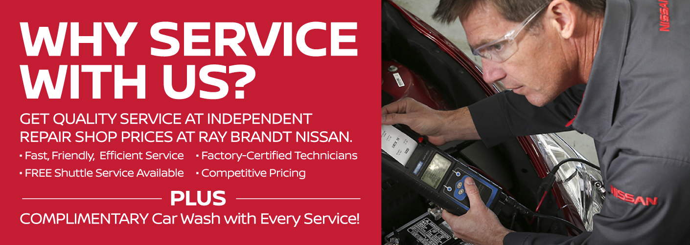 Get Quality Service at Independent Repair Shop Prices at Ray Brandt Nissan.