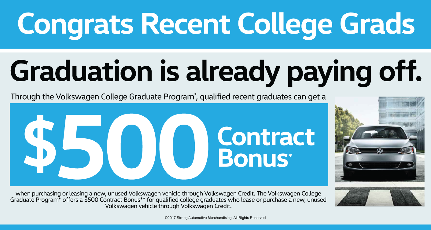 College Rebate at Ray Brandt Volkswagen