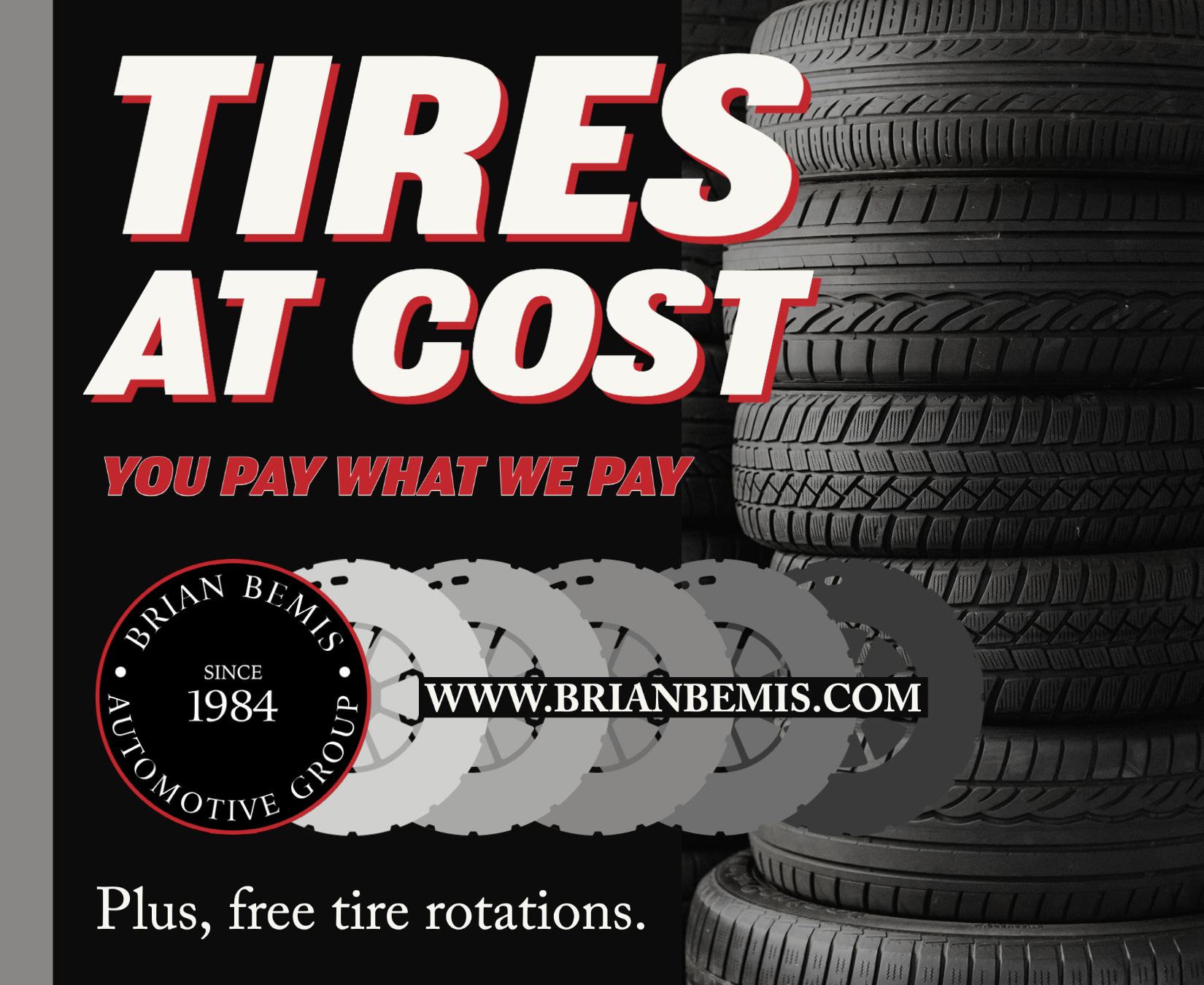 Tires at Cost in Sycamore, IL You Pay What We Pay