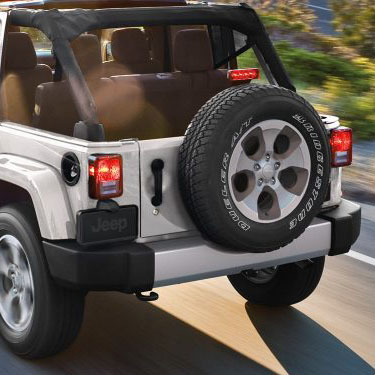Jeep Wrangler for sale in Fredericksburg Virginia features trunk