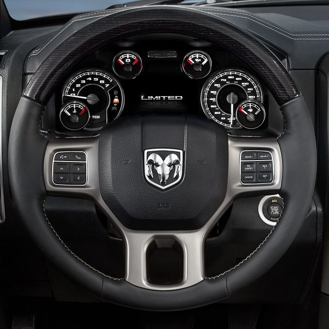 Ram 1500 in Arlington Virginia interior features steering wheel