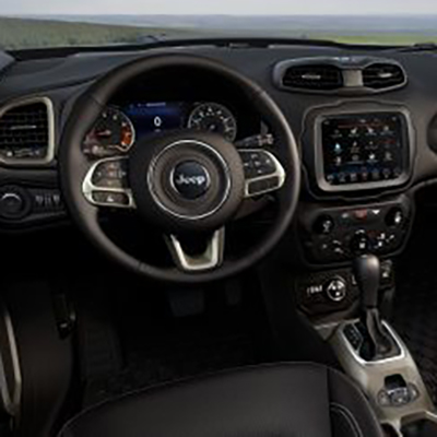 Jeep Renegade in Arlington Virginia interior features steering wheel