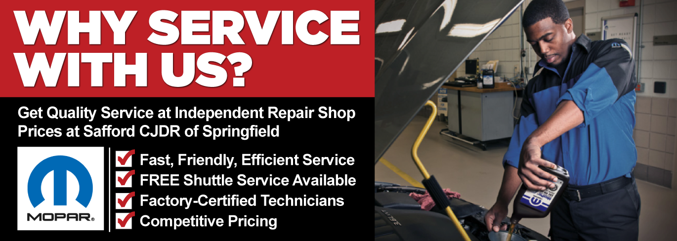 Get Quality Service at Indepedent Repair Shop Prices at Safford CJDR of Springfield