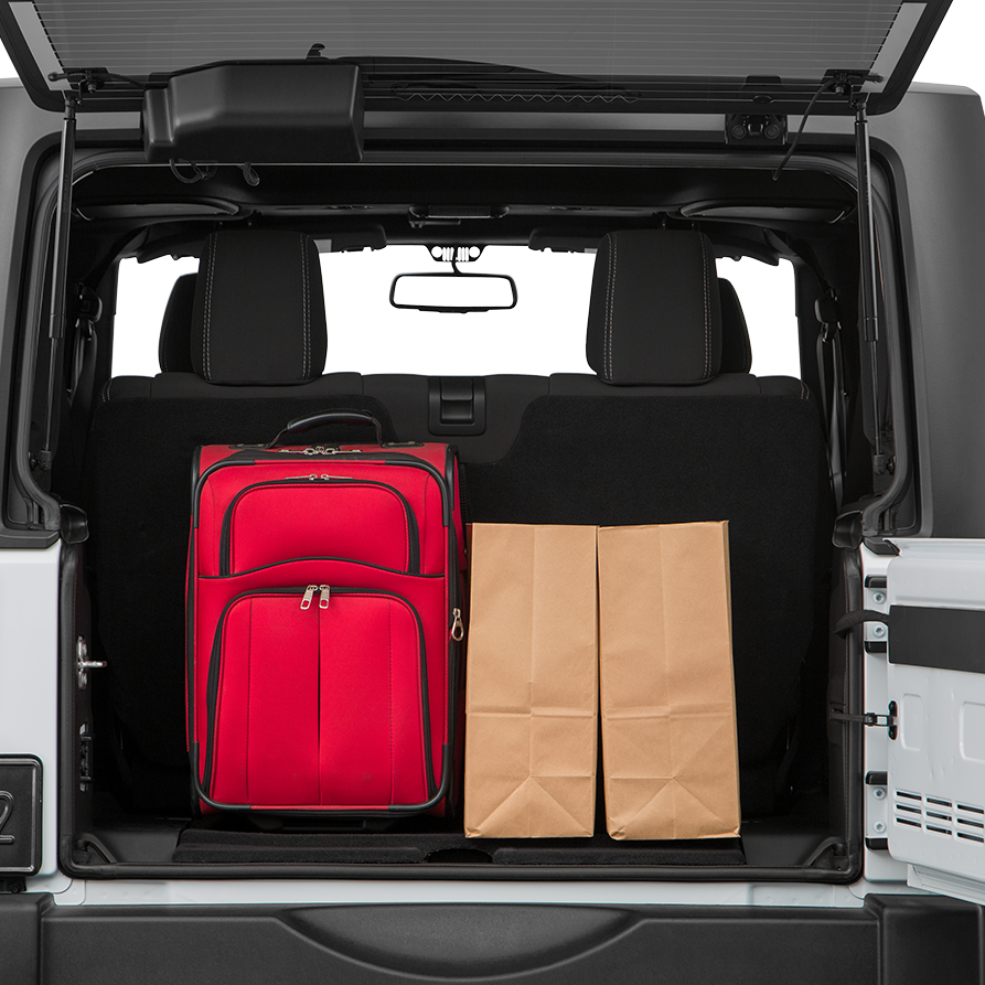 Pre-Owned Jeep Wrangler Trunk space
