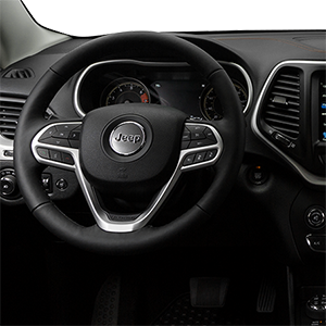 Jeep Cherokee in Warrenton Virginia interior features steering wheel