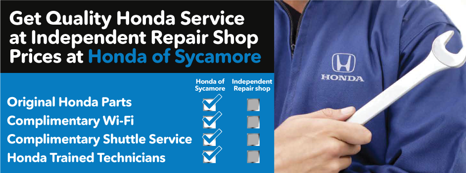 Get quality Honda Service at Independent Repair Shop prices at Honda of Sycamore