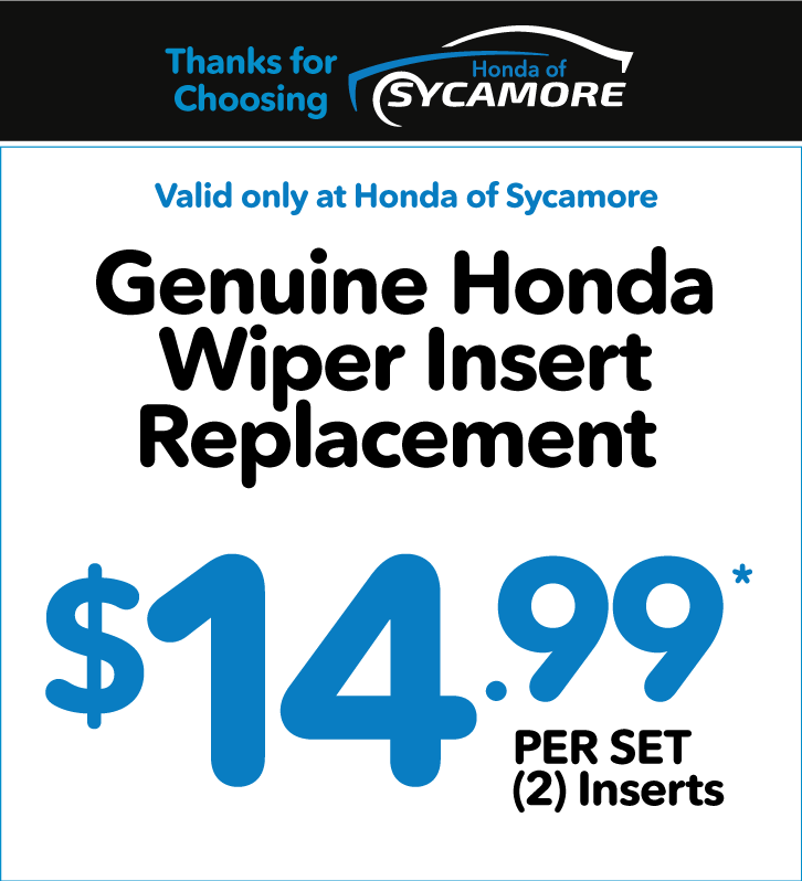 Genuine Honda Wiper Insert Replacement - $7.99 each