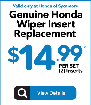Genuine Honda Wiper Insert Replacement - $7.99 each - Click to View Details