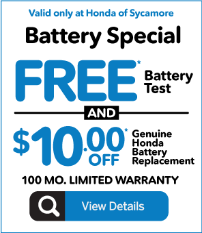 Battery Special - Free Battery Test and $10 off Battery Replacement - Click to View Inventory