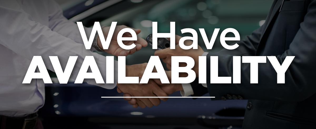 We Have Availability at Sycamore Hyundai