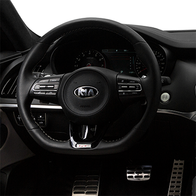 Kia Stinger in Fredericksburg Virginia interior features steering wheel