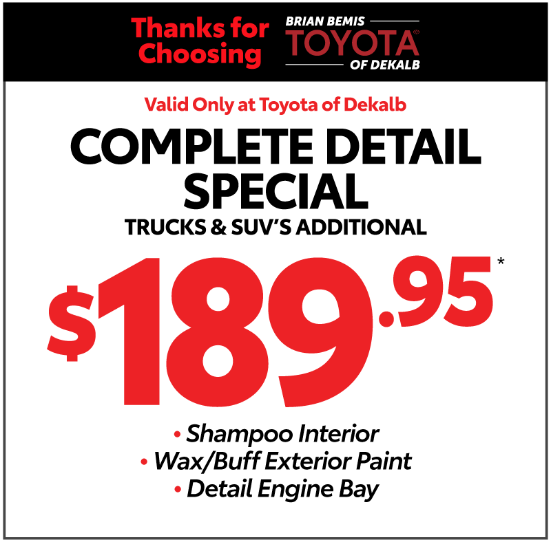 Thank you for choosing Toyota of Dekalb