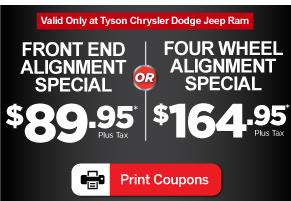 Front End Alignment Coupons >> Car Service Specials In Shorewood Tyson Motor Company