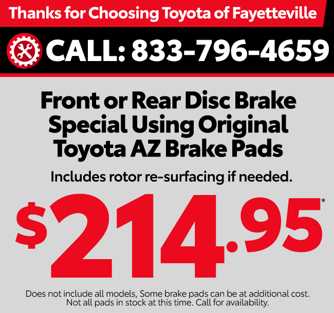 Thank you for choosing Toyota of Fayetteville