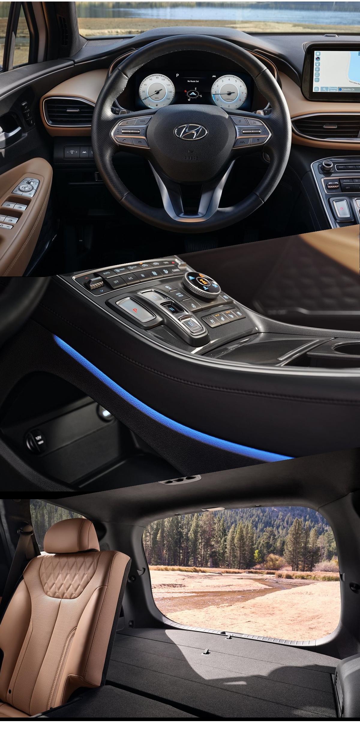 2021 Hyundai Santa Fe Interior Images
