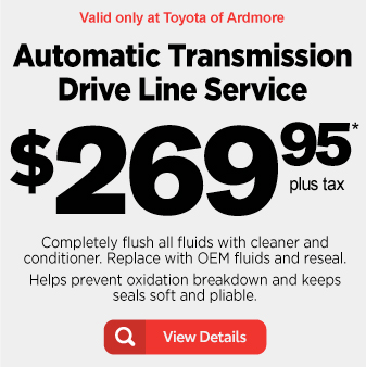 Automatic Transmission Drive Line Service for $269.95 plus tax - View Details