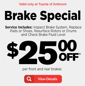 Brake Special for $25 off per front and rear brakes - View Details