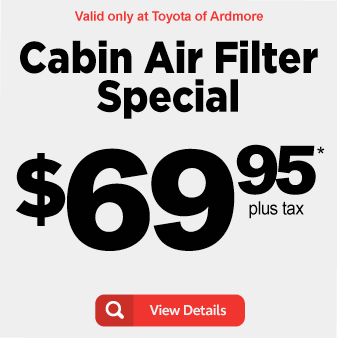 Cabin Air Filter Special now $69.95 - View Details