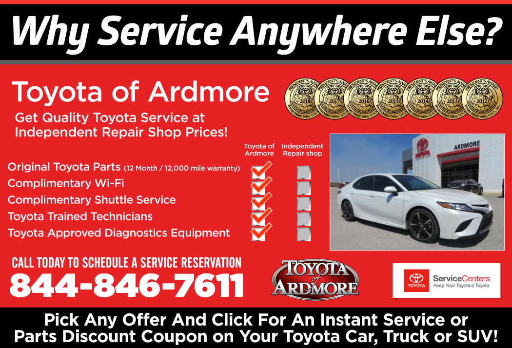 Get Quality Toyota Service at Independent Repair Shop Prices in Ardmore, OK