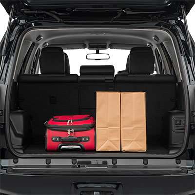 4Runner Interior Trunk Space