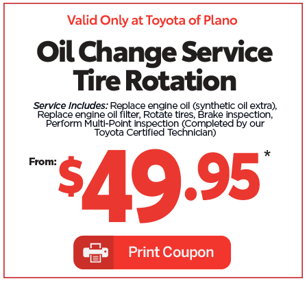 Toyota of plano oil change