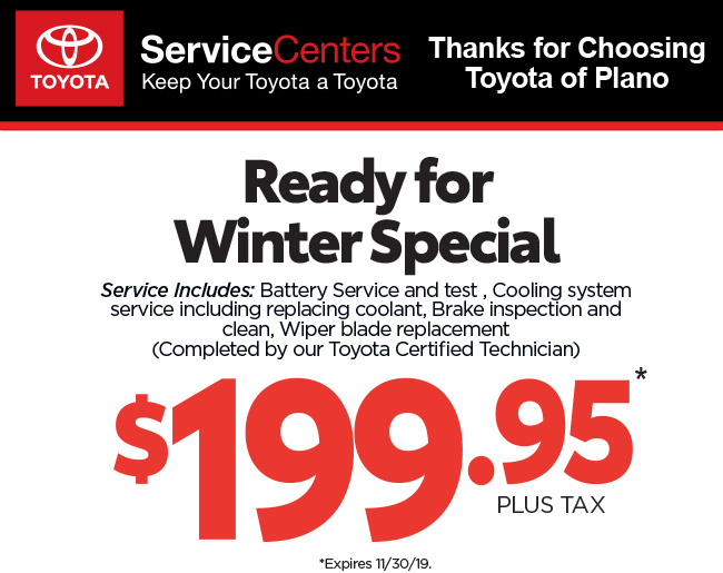 Thanks for Choosing Toyota of Plano