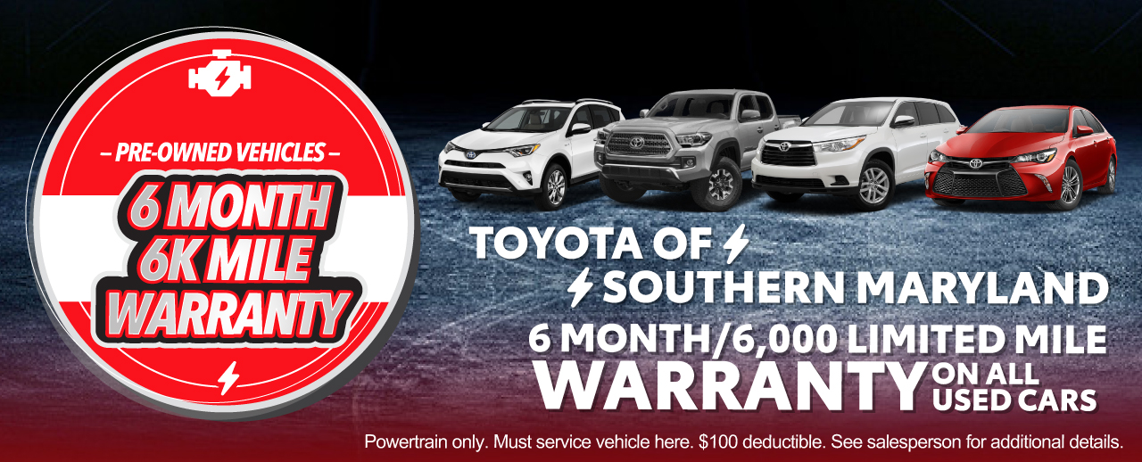 6 Month Warranty With Used Car Purchase