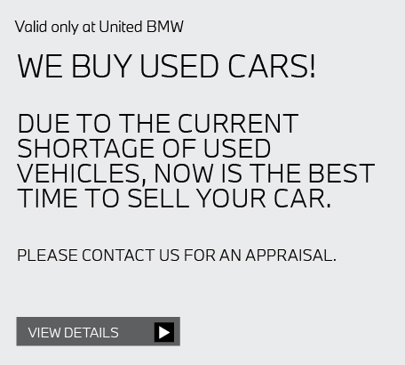 Valid only at United BMW ADD 50% OFF TIRE ROTATE & BALANCE WITH PURCHASE OF ALIGNMENT.* View details.