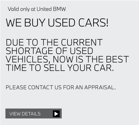 Valid only at United BMW. INSTALLED MICROFILTERS AND ENGINE AIR FILTERS 15% OFF. View details.