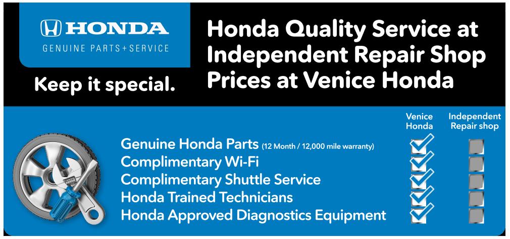 Honda Service Specials In Venice, FL