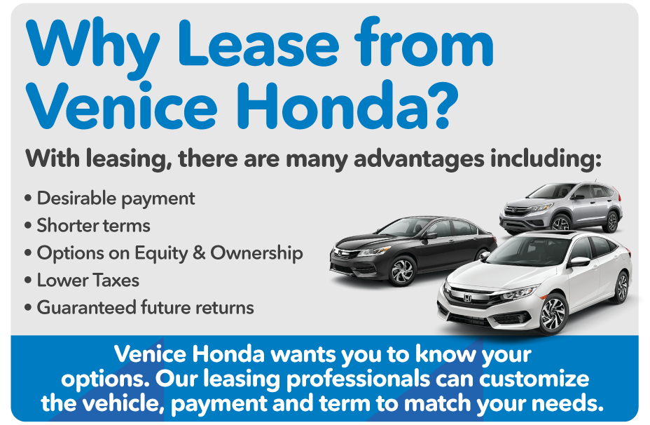 Honda Lease Specials in Venice Florida