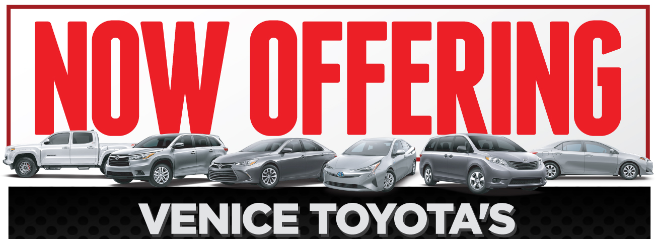 Now Offering Venice Toyota's 72 Hour Promise
