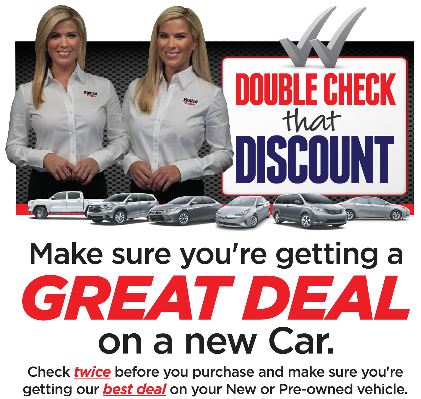 Double Check that Discount. Make Sure You are Getting a Great Deal on a new car.